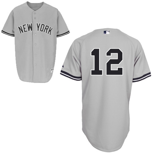 Alfonso Soriano #12 MLB Jersey-New York Yankees Men's Authentic Road Gray Baseball Jersey